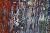 Detailaufnahme Gemälde Original abstrakt 80x180cm Spachteltechnik Moderne Kunst auf Leinwand bunt hochwertig