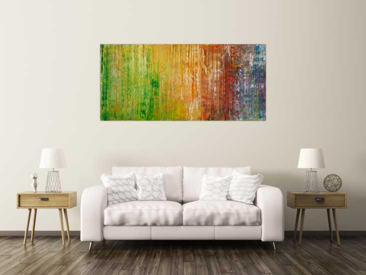 #1789 Gemälde Original abstrakt 80x180cm Spachteltechnik Moderne Kunst auf ... 80x180cm von Alex Zerr
