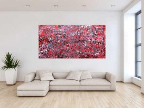 Abstraktes Acrylbild modern rot