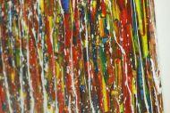 Detailaufnahme Original Gemälde abstrakt 80x160cm Spachteltechnik Moderne Kunst handgemalt Action Painting sehr bunt Einzelstück