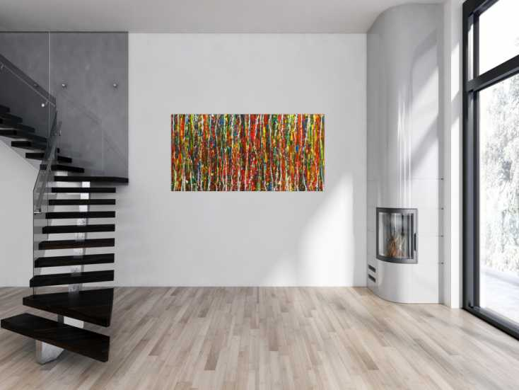 #1790 Original Gemälde abstrakt 80x160cm Spachteltechnik Moderne Kunst ... 80x160cm von Alex Zerr