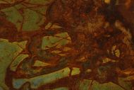 Detailaufnahme Gemälde Original abstrakt 60x180cm aus echtem Rost Moderne Kunst handgefertigt anthrazit braun orange grau Unikat