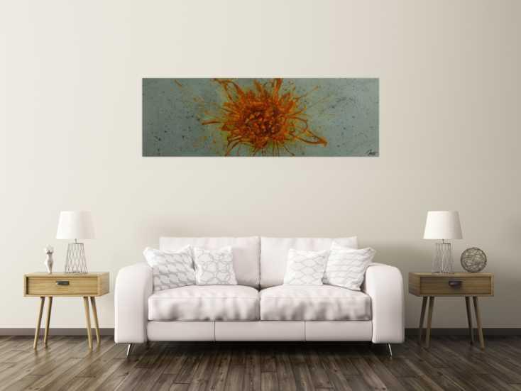 #1793 Gemälde Original abstrakt 60x180cm aus echtem Rost Moderne Kunst ... 60x180cm von Alex Zerr