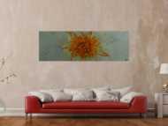 Gemälde Original abstrakt 60x180cm aus echtem Rost Moderne Kunst handgefertigt anthrazit braun orange grau Unikat