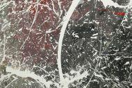 Detailaufnahme Original Gemälde abstrakt 75x120cm Action Painting Moderne Kunst auf Leinwand anthrazit grau rosa weiß Einzelstück