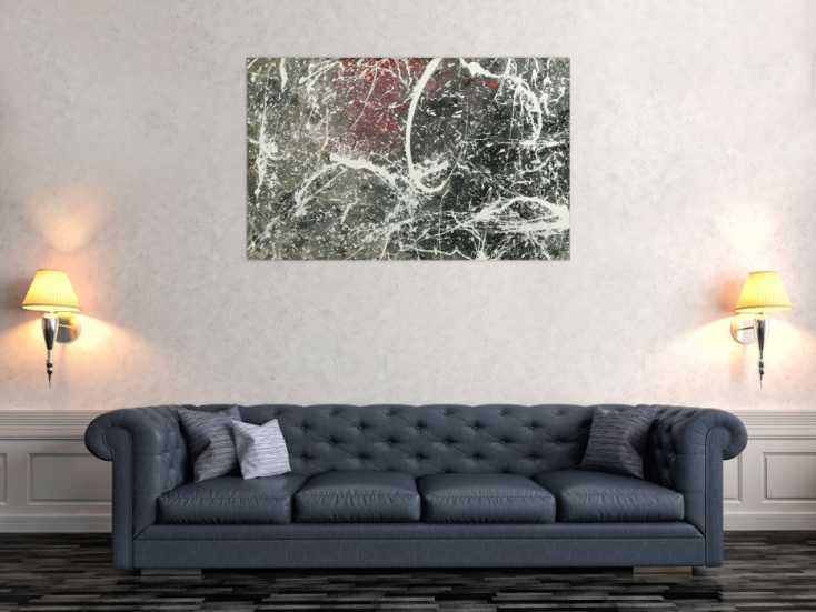 #1794 Original Gemälde abstrakt 75x120cm Action Painting Moderne Kunst auf ... 75x120cm von Alex Zerr