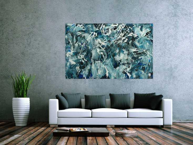 #1795 Abstraktes Original Gemälde 100x160cm Action Painting Modern Art ... 100x160cm von Alex Zerr