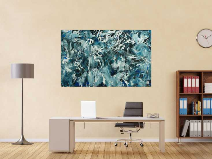 #1795 Abstraktes Original Gemälde 100x160cm Action Painting Modern Art ... 100x160cm von Alex Zerr