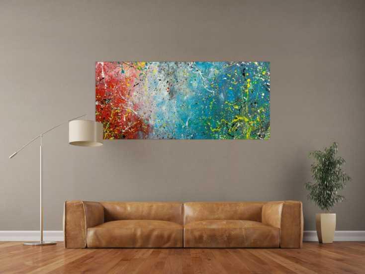 #1796 Original Gemälde abstrakt 70x160cm Action Painting expressionistisch ... 70x160cm von Alex Zerr