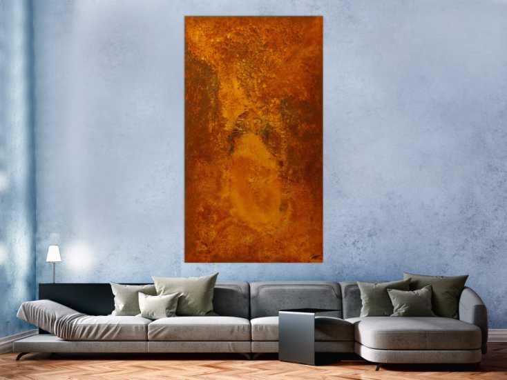 #1797 Original Gemälde abstrakt 180x100cm Aus echtem Rost Moderne Kunst ... 180x100cm von Alex Zerr