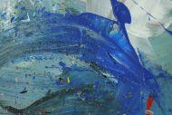 Detailaufnahme Gemälde Original abstrakt 200x300cm Action Painting expressionistisch handgefertigt sehr bunt Unikat einzigartig