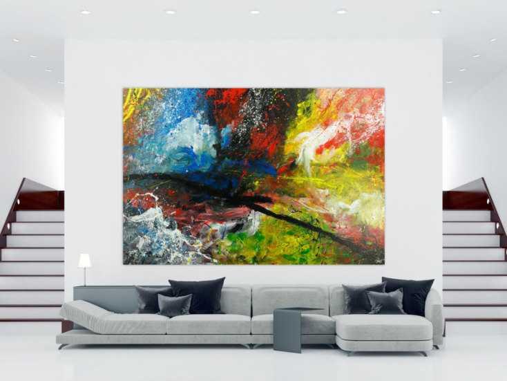 #1798 Gemälde Original abstrakt 200x300cm Action Painting ... 200x300cm von Alex Zerr
