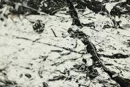 Detailaufnahme Original Gemälde abstrakt 55x110cm Action Painting Modern Art handgemalt  schwarz weiß Unikat