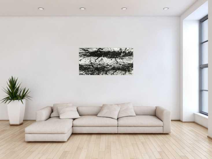#1799 Original Gemälde abstrakt 55x110cm Action Painting Modern Art ... 55x110cm von Alex Zerr