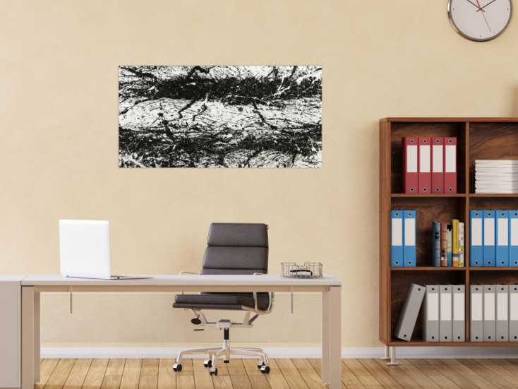 #1799 Original Gemälde abstrakt 55x110cm Action Painting Modern Art ... 55x110cm von Alex Zerr