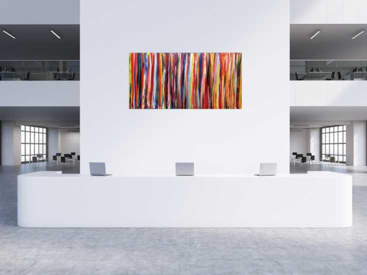 #180 Abstraktes Wandbild Acryl modern bunt 100x200cm von Alex Zerr
