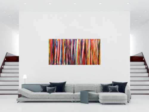 Abstraktes Wandbild Acryl modern bunt
