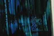 Detailaufnahme Abstraktes Original Gemälde 120x200cm Spachteltechnik Moderne Kunst handgemalt Mischtechnik bunt und schwarz Einzelstück