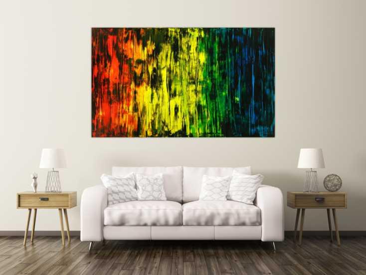 #1800 Abstraktes Original Gemälde 120x200cm Spachteltechnik Moderne Kunst ... 120x200cm von Alex Zerr