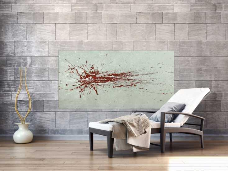 #1801 Gemälde Original abstrakt 80x160cm Action Painting Moderne Kunst auf ... 80x160cm von Alex Zerr