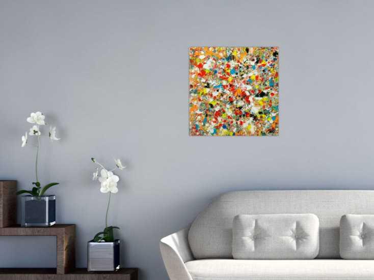 #1802 Abstraktes Original Gemälde 50x50cm Mischtechnik Moderne Kunst auf ... 50x50cm von Alex Zerr