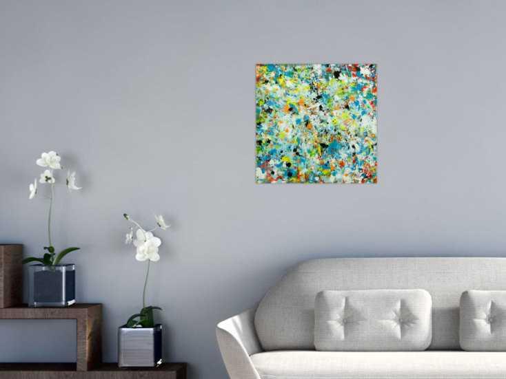#1803 Abstraktes Original Gemälde 50x50cm Mischtechnik Moderne Kunst auf ... 50x50cm von Alex Zerr