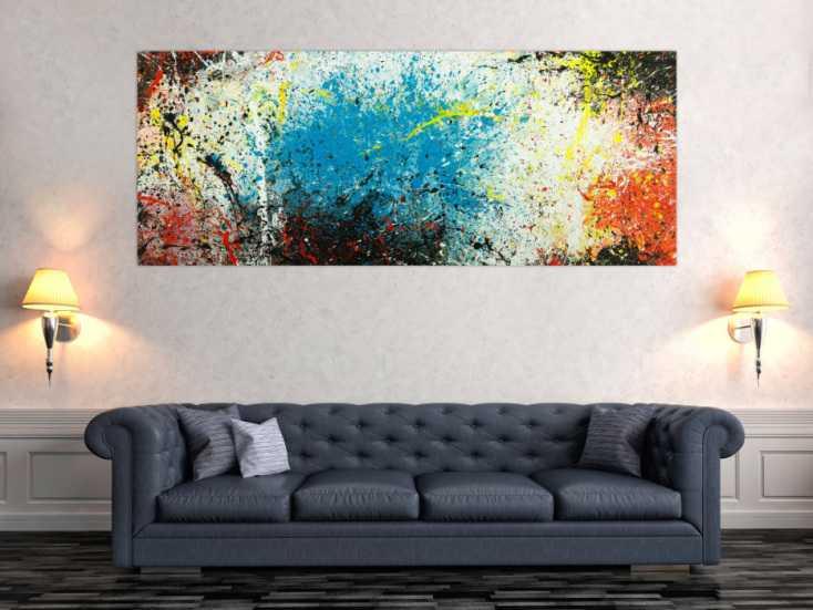 #1804 Abstraktes Original Gemälde 80x200cm  expressionistisch ... 80x200cm von Alex Zerr