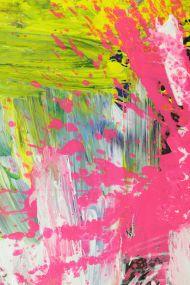 Detailaufnahme Gemälde Original abstrakt 160x80cm  zeitgenössisch handgefertigt  weiß gelb hellblau Einzelstück