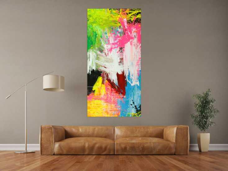 #1805 Gemälde Original abstrakt 160x80cm  zeitgenössisch handgefertigt  ... 160x80cm von Alex Zerr