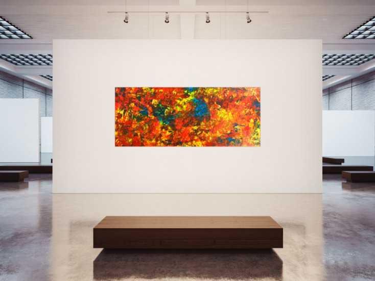 #1806 Original Gemälde abstrakt 100x250cm  Modern Art handgemalt  rot gelb ... 100x250cm von Alex Zerr