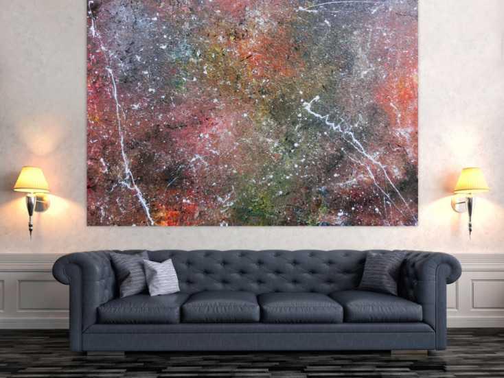 abstraktes acrylbild wandbild gem lde sehr gro modern. Black Bedroom Furniture Sets. Home Design Ideas