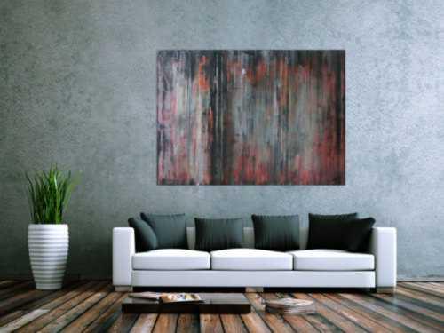 Abstraktes Acrylbid modern vintage