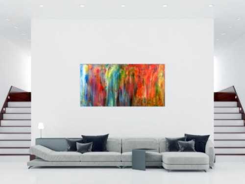 Modernes Wandbild Acryl modern und bunt