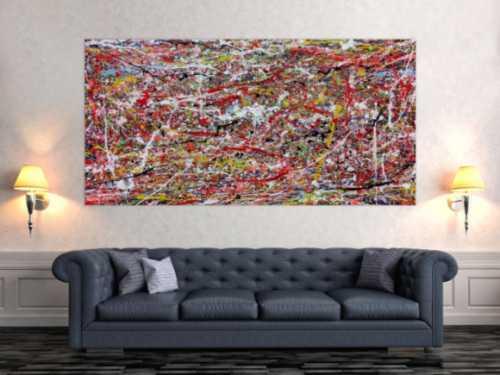 Abstraktes Wanbild Acryl modern auf Rahmen