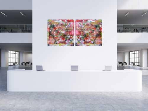 Abstraktes Kunstwerk Gemälde Acrylbild modern und sehr groß