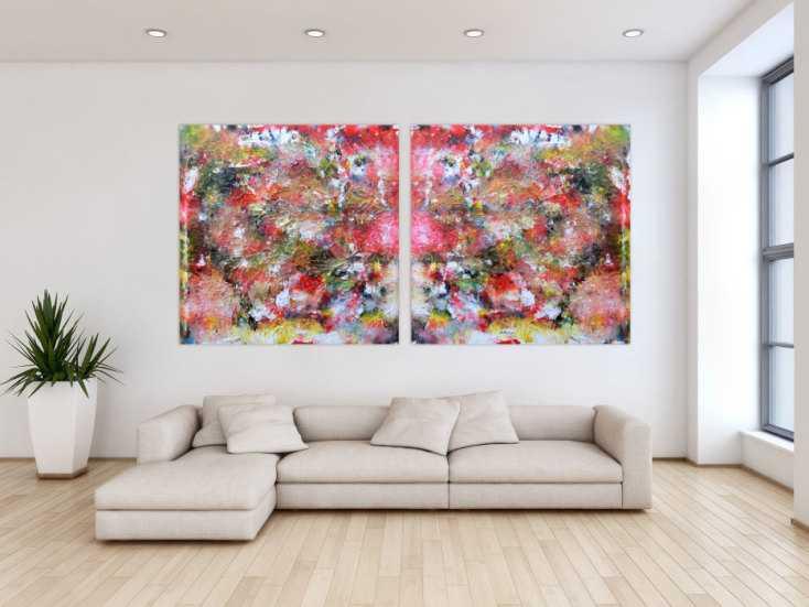 #190 Abstraktes Kunstwerk Gemälde Acrylbild modern und sehr groß 120x240cm von Alex Zerr
