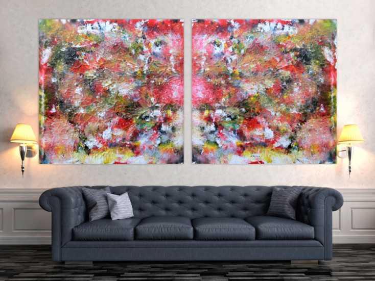 abstraktes kunstwerk gem lde acrylbild modern und sehr. Black Bedroom Furniture Sets. Home Design Ideas