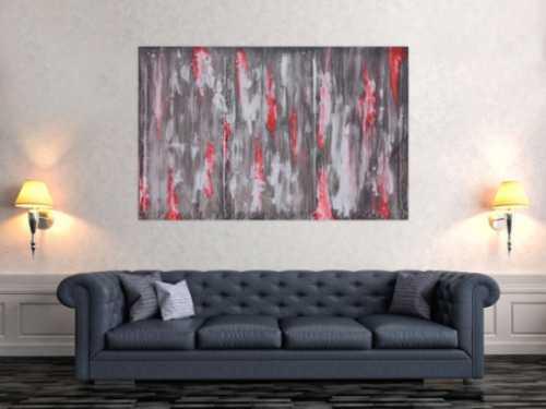 Abstraktes Acrylbild grau modern