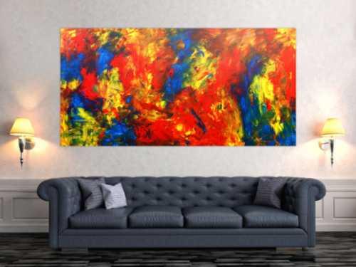 Abstraktes Gemälde modernes Acrylbild bunt groß