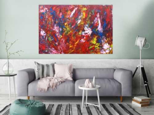 Modernes Acrylbild abstrakt