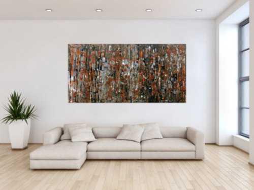 Abstraktes Gemälde aus Acryl modern in braun
