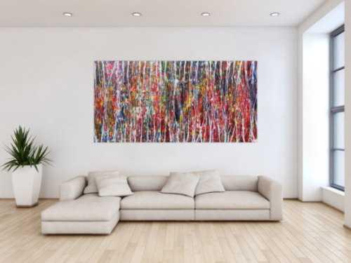 Abstraktes Acrylbild - bunt und modern