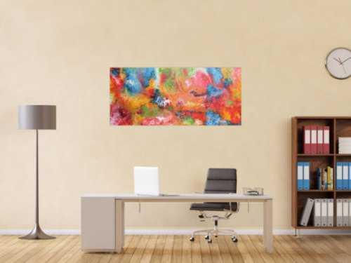 Abstraktes Acrylbild bunt und modern