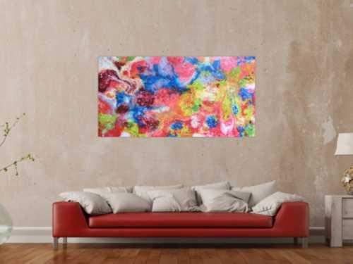Abstraktes Gemälde aus Acryl - bunt und modern