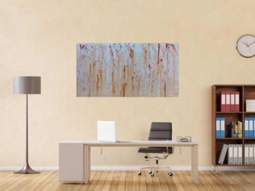 Modernes Gemälde abstrakt in beige weiß und braun