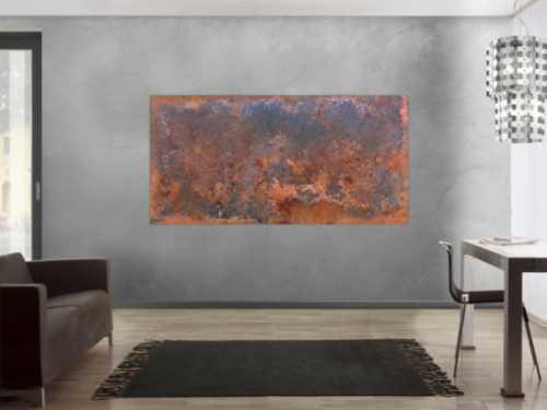Gemälde aus Rost abstrakt und modern im Großformat