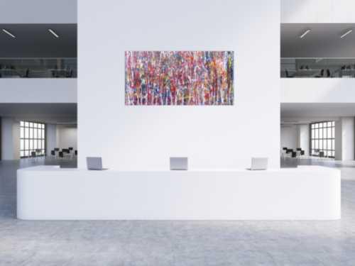 Abstraktes Gemälde aus Acryl bunt und modern