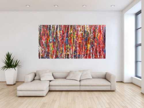 Abstrakes modernes Acrylbild bunt und groß