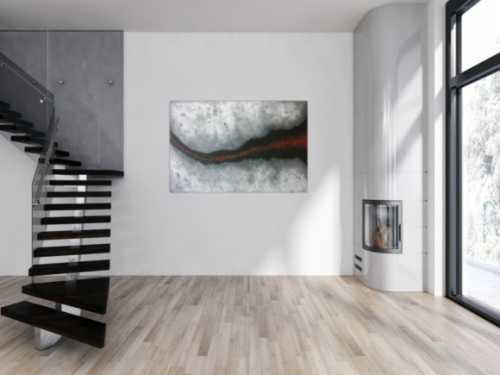 Abstraktes Acrylbild mit Struktur