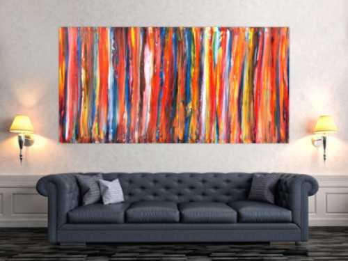 Abstraktes Gemälde aus Acryl modern und bunt
